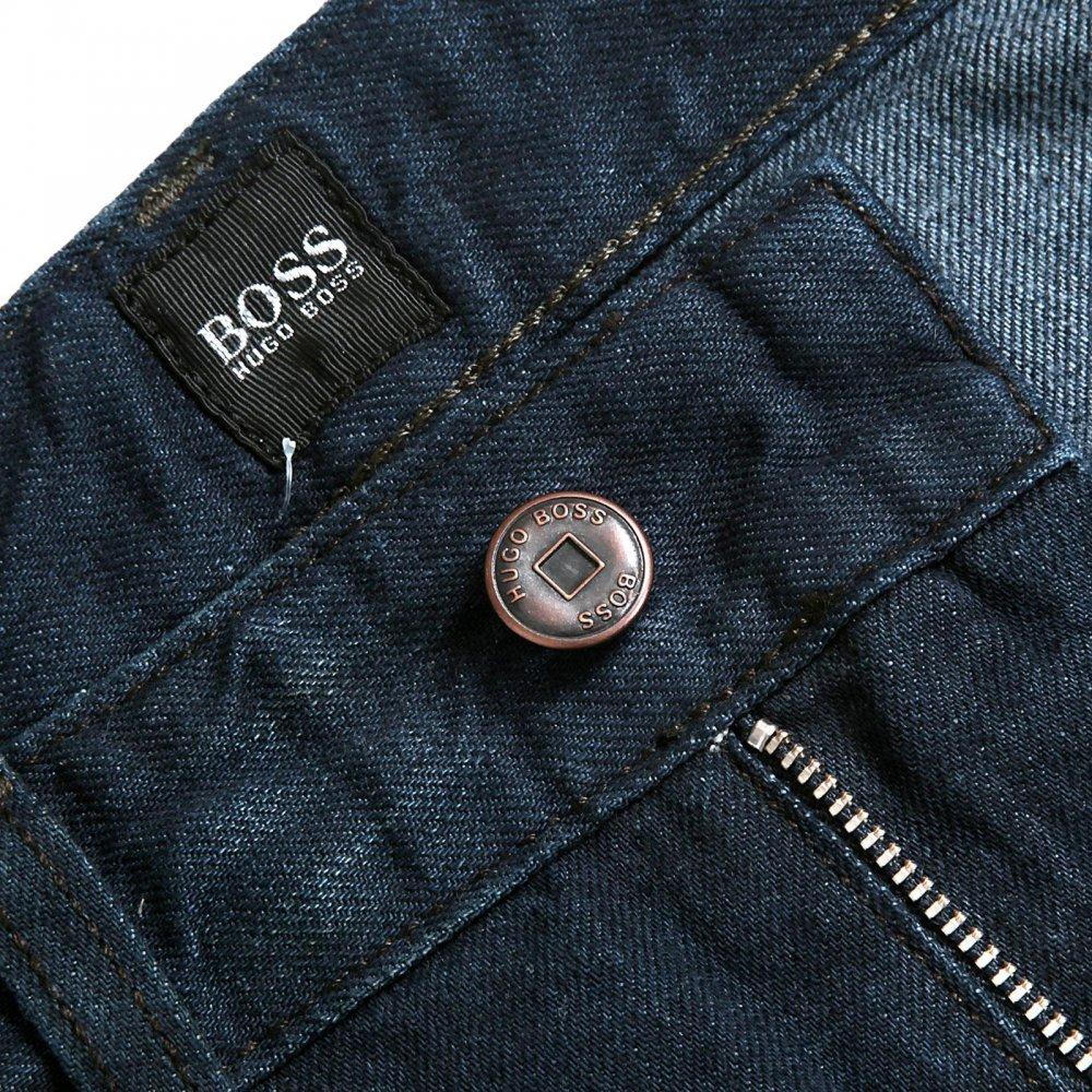 e27fbc4ebea ... Shop Slim fit dark blue denim jeans by Boss Black at Niro Peterborough  HUGO ...