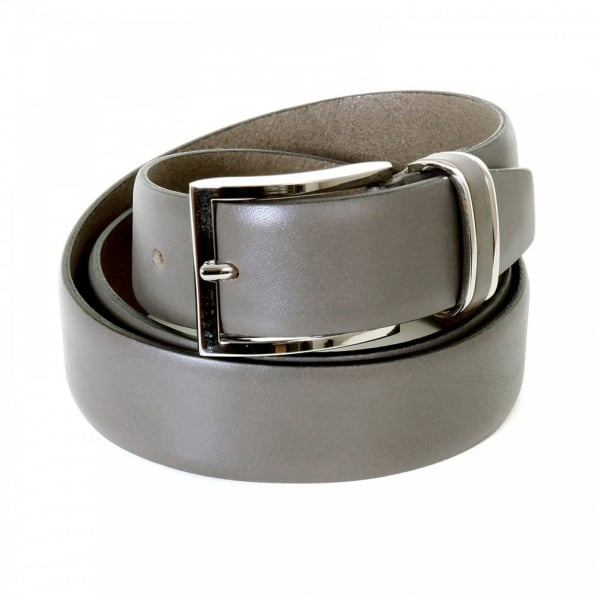 HUGO BOSS BLACK Mens Froppin Grey Leather Belt