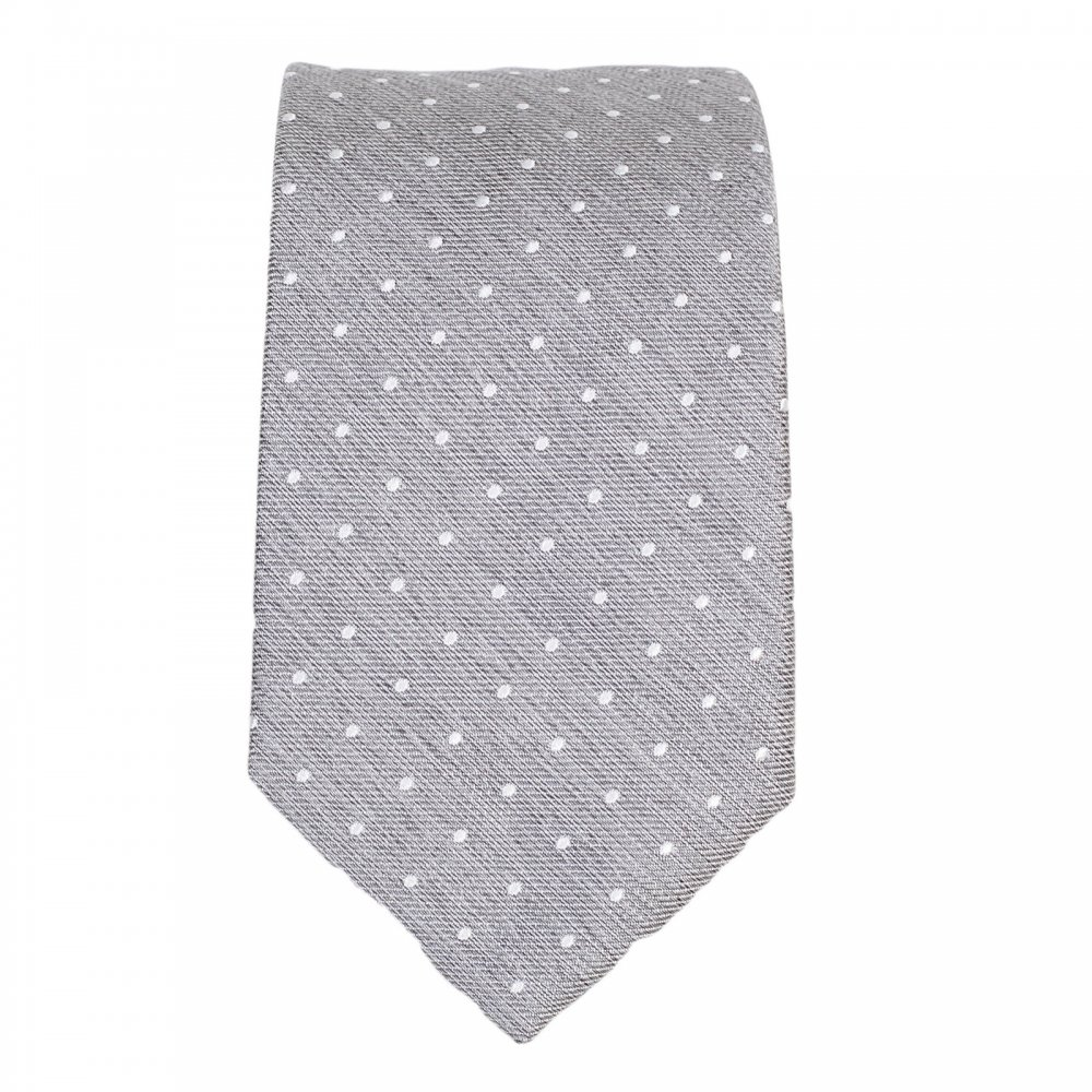 a18ee91253 cheapest hugo boss tie pink spot 9dac6 dd348; 50% off hugo boss black mens  grey pin dot silk tie 43745 1b82a