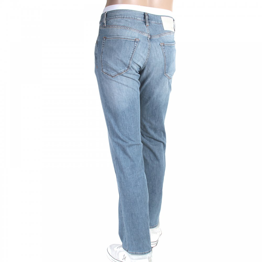 regular fit light blue mens stretch jeans by hugo boss at niro fashion. Black Bedroom Furniture Sets. Home Design Ideas