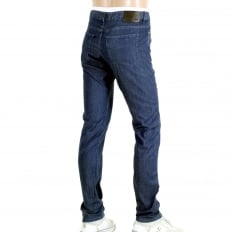 Mens Navy Blue Delaware 3 Lightweight 50313540 Stretch Denim Slim Fit Jeans with Zip Fly and Regular High Waist