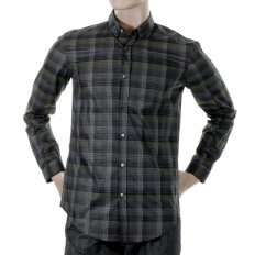 Mens peric check long sleeve shirt