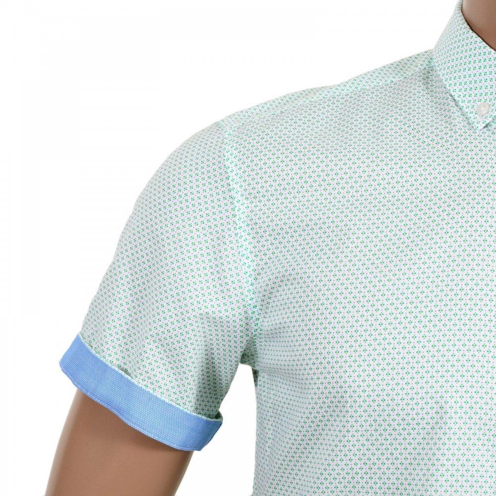 6213d2d54364 ... HUGO BOSS BLACK Mens Slim Fit Reed Modern Essential Button Down Collar  Short Sleeve Shirt ...