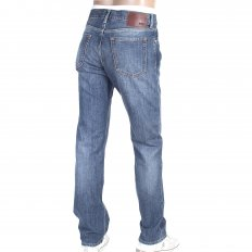 Stonewash blue denim regular fit jean