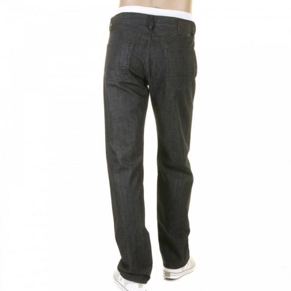 HUGO BOSS BLACK Texas washed black denim jeans