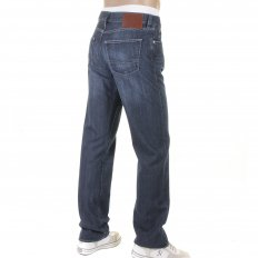Texas washed blue denim jean
