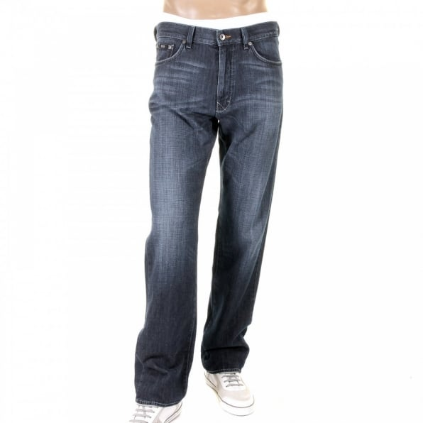 HUGO BOSS BLACK Texas washed blue denim jean