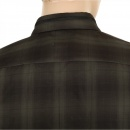 HUGO BOSS BLACK Woven Cotton Slim Fit Loren Long Sleeve Black and Dark Green Check Casual Shirt