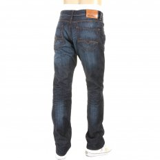 Blue Regular Fit Washed Indigo Denim Jean