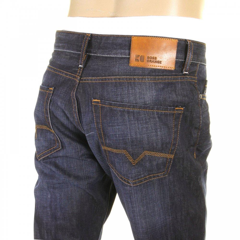 blue indigo denim regular fit boss orange jeans at niro. Black Bedroom Furniture Sets. Home Design Ideas