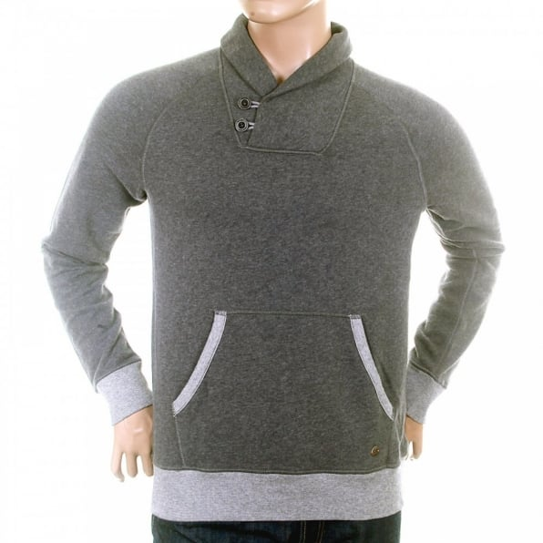 HUGO BOSS ORANGE Light Grey Regular Fit Soft cotton mix Sweatshirt