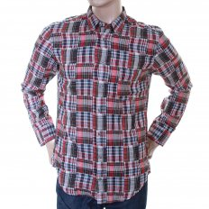 Mens cherry check long sleeve shirt