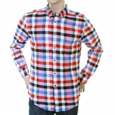 Mens Cube Check Long Sleeve EquatorE Shirt