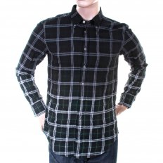 Mens racing green check long sleeve EquatorE shirt