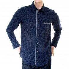 Mens Royal Blue Long Sleeve Cielcebu Shirt