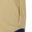 HUGO BOSS ORANGE Mustard Regular Fit Cotton Long Sleeve Shirt with Small Checks