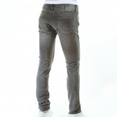 Slim fit washed black worn stretch denim jean