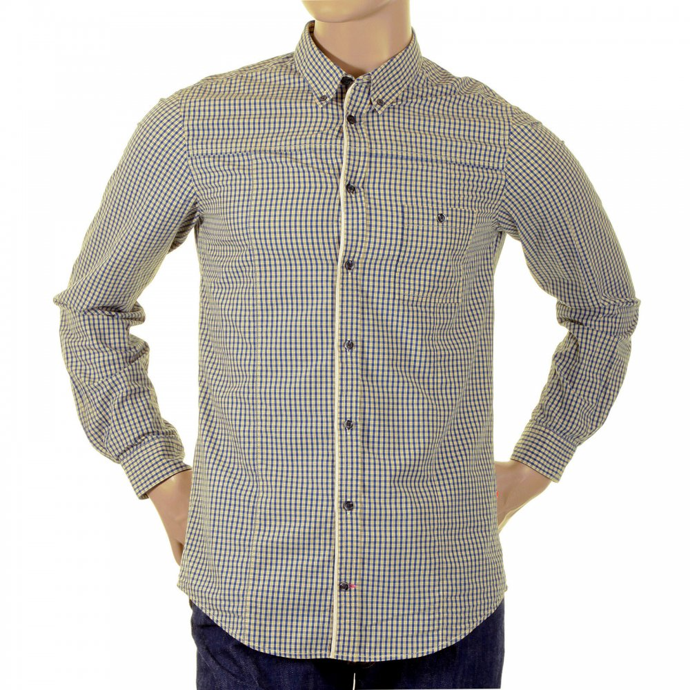 Look great in Blue Checked Button down Collar Shirts from Boss Orange