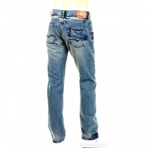 HUGO BOSS ORANGE Washed Indigo Classic Regular Fit Denim Jeans
