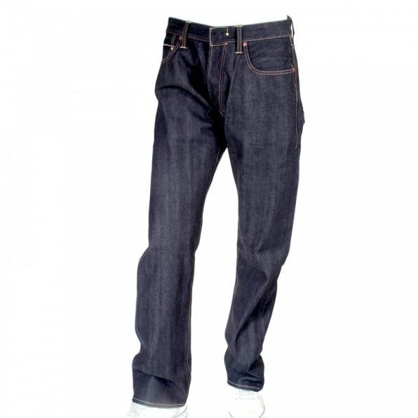 IJIN Big horn organic dry regular leg denim jeans