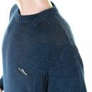 IJIN Blue wool mix panel crew neck knitwear
