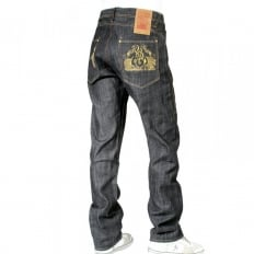 Fireball Wrap Leg Dry Regular Fit Indigo Denim Jeans