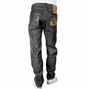 IJIN Fireball Wrap Leg Dry Regular Fit Indigo Denim Jeans