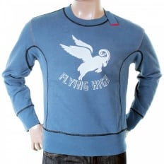 Flying high logo crew neck sweatshirt