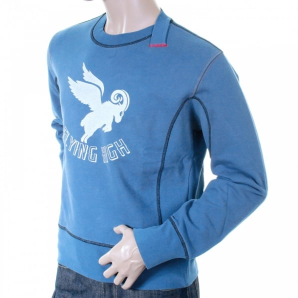 IJIN Flying high logo crew neck sweatshirt