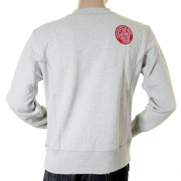IJIN Marl grey standard label crew neck sweatshirt