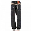 IJIN Non-Wash Dry Regular Fit Cinch Back Denim Jeans