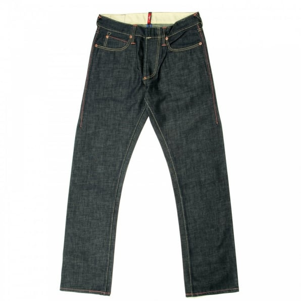 IJIN Non-Wash Dry Regular Fit Denim Jeans with Green Cast