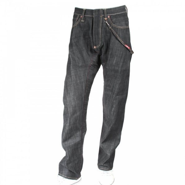 IJIN Original Antifit Back Strap Dry Denim Jeans