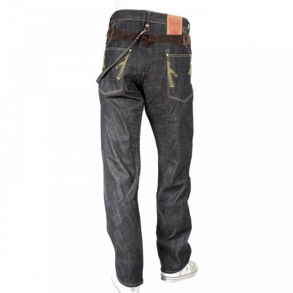 IJIN Original Antifit Back Strap Dry Denim Jeans