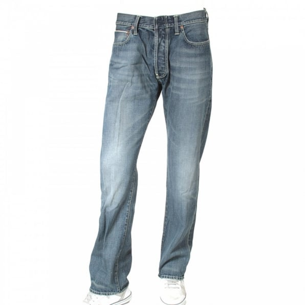 IJIN Red line hiro wash selvedge denim jean