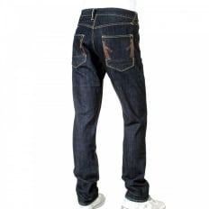 Red line slim leg selvedge denim jeans