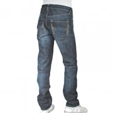 Red line vintage wash denim jean