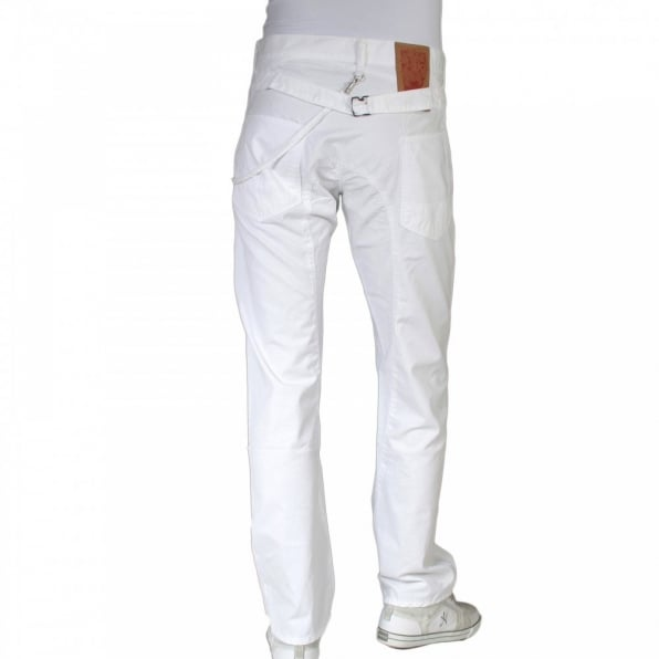 IJIN Regular fit backstrap cotton jeans