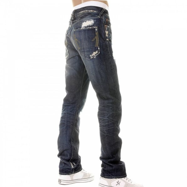 IJIN Slitha extreme wash selvedge denim jeans