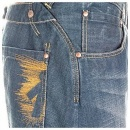IJIN Sulphur Wash Relaxed Fit Cinch Back Denim Jeans