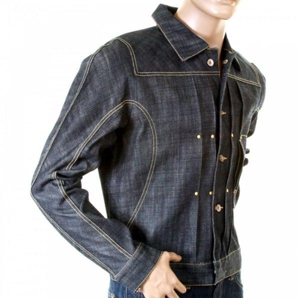 IJIN Unwashed raw selvedge denim slimmer fit pleat jacket