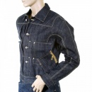 IJIN Unwashed raw selvedge denim slimmer fit pleat jacket
