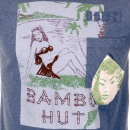 IJIN Washed Chelsea Blue Crew Neck Short Sleeve Regular Fit Bambu Hut T Shirt