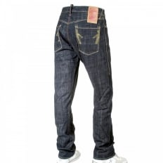 Wrap leg slim fit denim jean