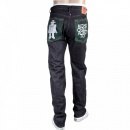 RMC JEANS Japanese Indigo Red Line Selvedge Raw Denim Jean for Men with Robot Toy Embroidery