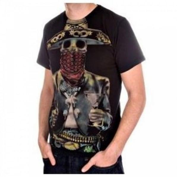 LA AIR LINE Black Bandido Short Sleeve T-shirt