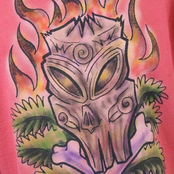 LA AIR LINE Coral Tiki zipped Hooded sweatshirt