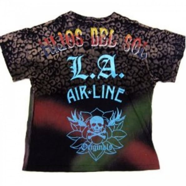 LA AIR LINE Dance Black T shirt