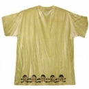 LA AIR LINE Die on your feet T shirt - Mustard