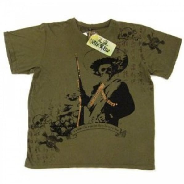 LA AIR LINE Die on your feet T shirt - Olive